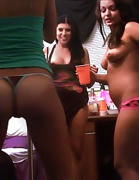 Super sexy big tit college babes get nailed hard in these dorm room fucking pics