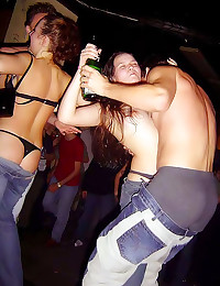 Hot drunken party girls