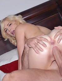 Fresh Faced Blonde Pleasures Fat Wang