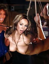 Mariah Carey nude and getting a facial.