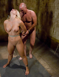 Rope bondage and oral