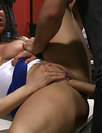 James Deen and Princess Donna take a submissive slut through the streets of Europe, tie her up, strip her down, and fuck her up the ass