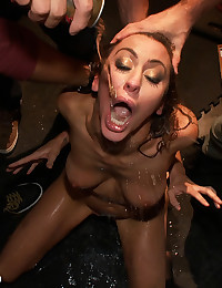 Princess Donna in extreme 8 guy Gangbang! First time gangbang, anal, dp, bondage, fisting, slapping, spitting, INTENSE. HARDCORE!!!!