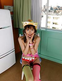Petite Asian Cutie Takes Bath