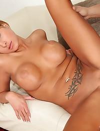Busty Blonde Minx Doused In Jizz