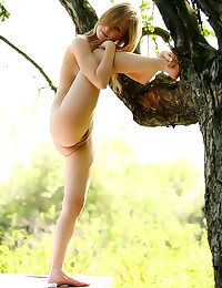 Erotic shaved nude teen outdo...