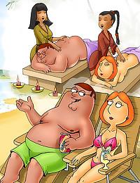 Family Guy cartoon with bonda...