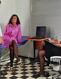 Medical games with a dick in a femdom clinic
