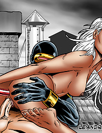 Cyclops has hot anal sex with Storm