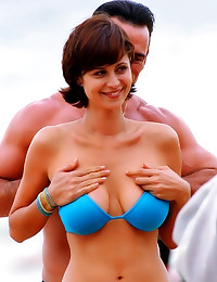 Catherine Bell sexy tease pic...