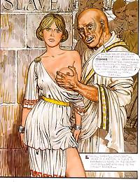 Ancient Roman slave girl used