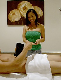 Hot ass big tits asian fucks inside a hidden camera massage parlor hot pics