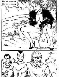 Hardcore comic in black and w...
