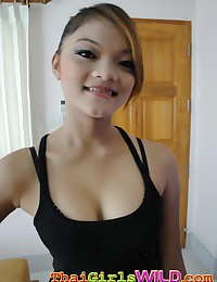 Cute Thai girl with braces takes some self shot photos