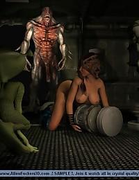 Alien Porn Comics. Alien Fuckers 3D Gallery