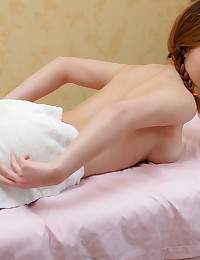 Teen hottie getting an All-Included massage