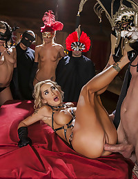 Blonde Sex Slave Fucked At Party