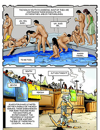 Arousing comic with an orgy