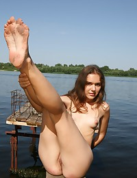 Malika is ready to dive in the water naked!