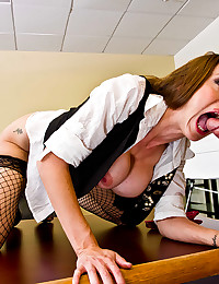 Horny Office Worker Gets Ravaged Raw