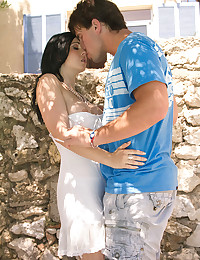 Raven Haired Goddess Gets Jizzed On