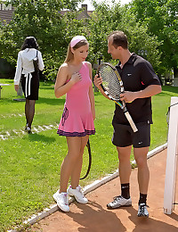 Tennis playing girls
