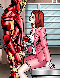 Pepper Potts sucks Iron Man.s little iron man!