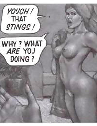Black and white comic porn