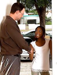 He fucks young ebony girl
