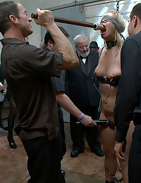 Tara Lynn Fox is tied up in inescapable bondage and fucked by random dudes