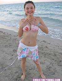 Young bikini teen pink